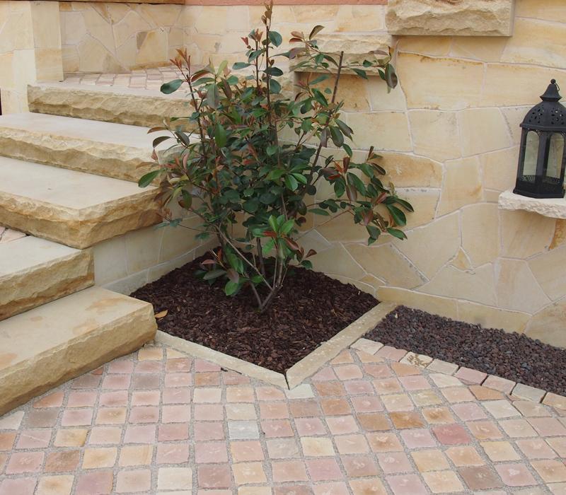 Naturstein Pflastersteine Sandstein Redstone